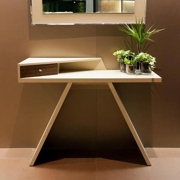 Unico Italia Modern Enigma Glass Coffee Table With Shelf: Antonello Italia Mirta Console Tables