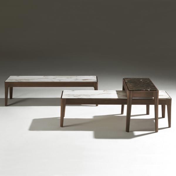 Unico Italia Modern Enigma Glass Coffee Table With Shelf: Porada Ziggy Coffee Table Coffee Tables