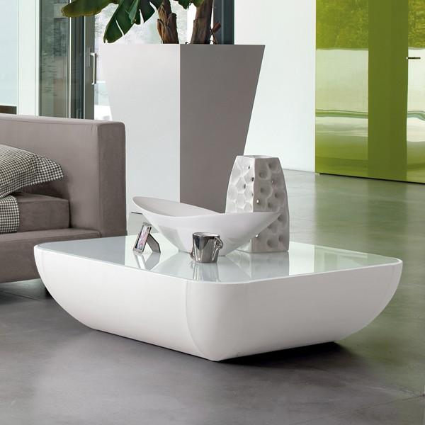 Unico Italia Modern Enigma Glass Coffee Table With Shelf: Bonaldo Cosmos Coffee Tables