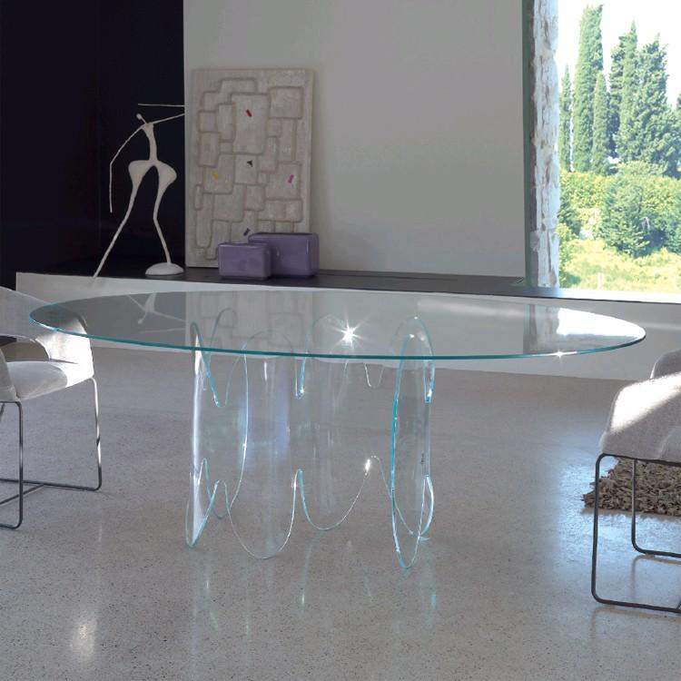 Unico Italia Modern Enigma Glass Coffee Table With Shelf: Antonello Italia Sidney Dining Tables