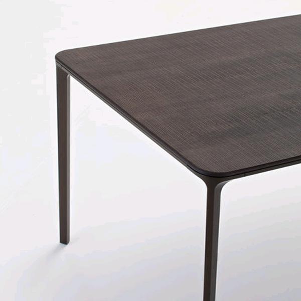 Sovet Slim Wood Dining Tables Rectangular Top Wooden