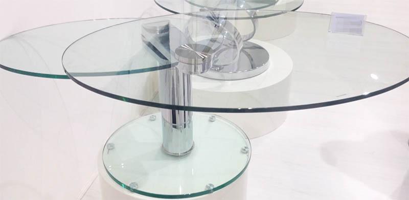 Viva Modern Swing Oval Coffee Tables Glass Living Room