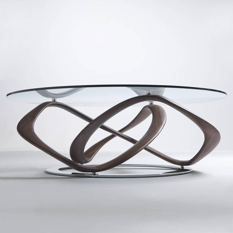 Unico Italia Modern Enigma Glass Coffee Table With Shelf: Porada Infinity Coffee Coffee Table
