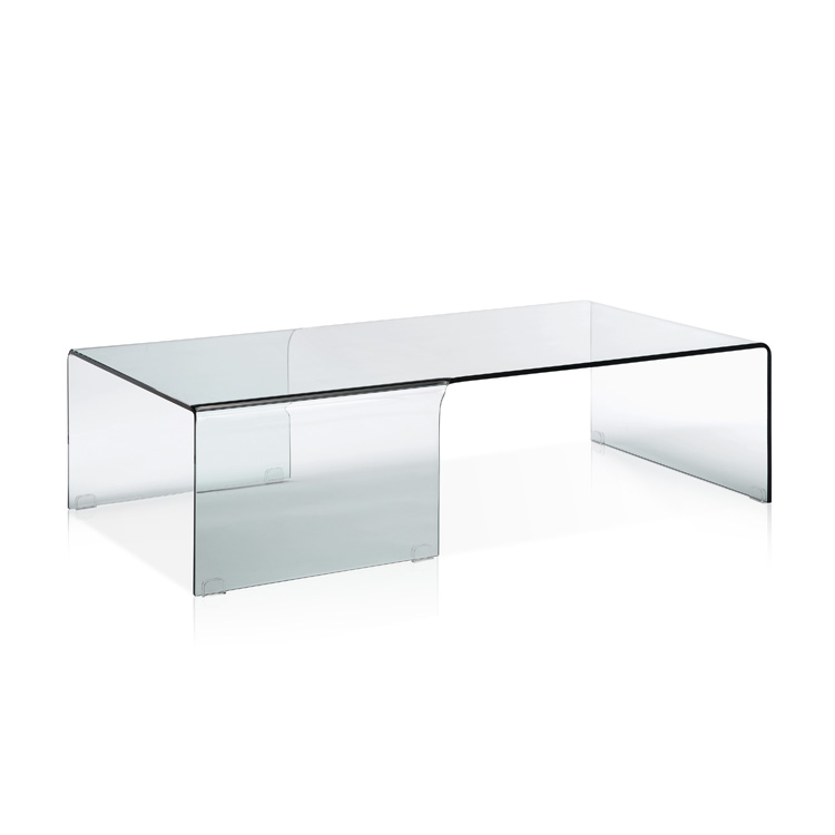 Viva Modern Ponte Waterfall Coffee Table Tables Bent Glass Curved Rectangular Top Contemporary Furniture From Ultra