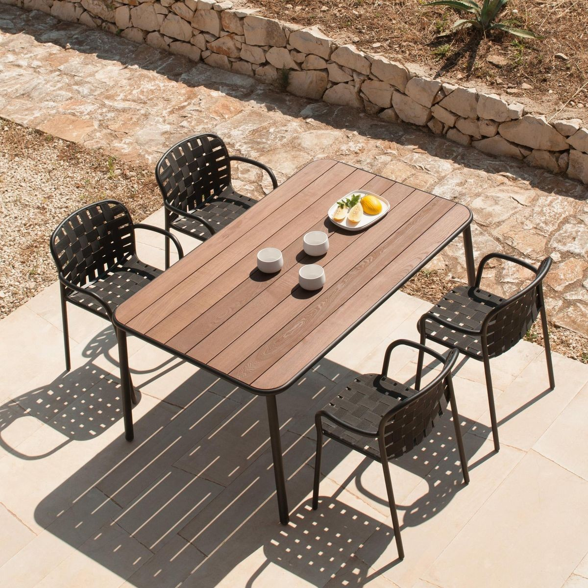 Yard dining table wood top by emu