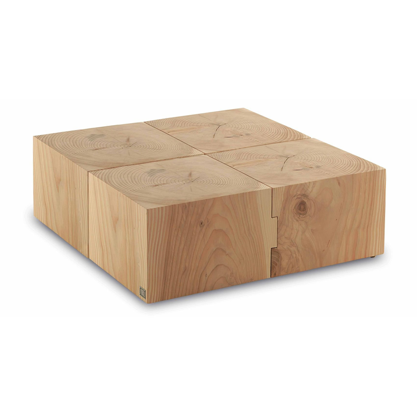 Riva 1920 Eco Block End Tables | Round Top | Rectangular Top | Wooden    Contemporary Furniture From Ultra Modern