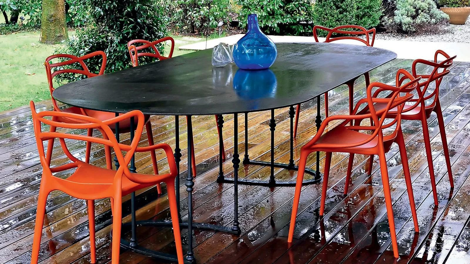 Kartell Garden Furniture Kartell masters plastic chair dining room furniture outdoor masters by kartell workwithnaturefo
