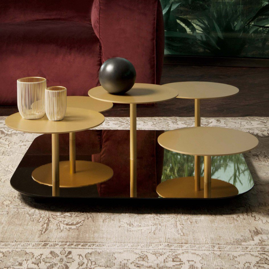 Tonin Casa Valentine Metal Coffee Table   Contemporary Furniture From Ultra  Modern