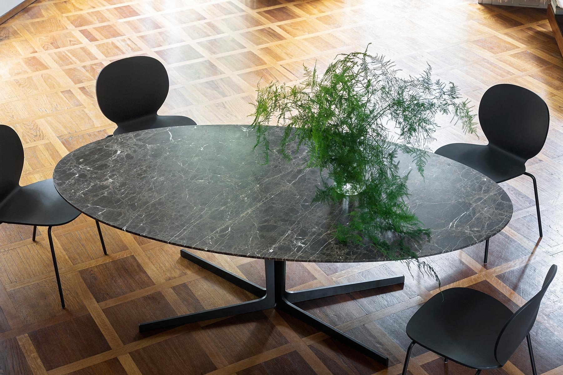 Tacchini Split Marble Dining Table Contemporary