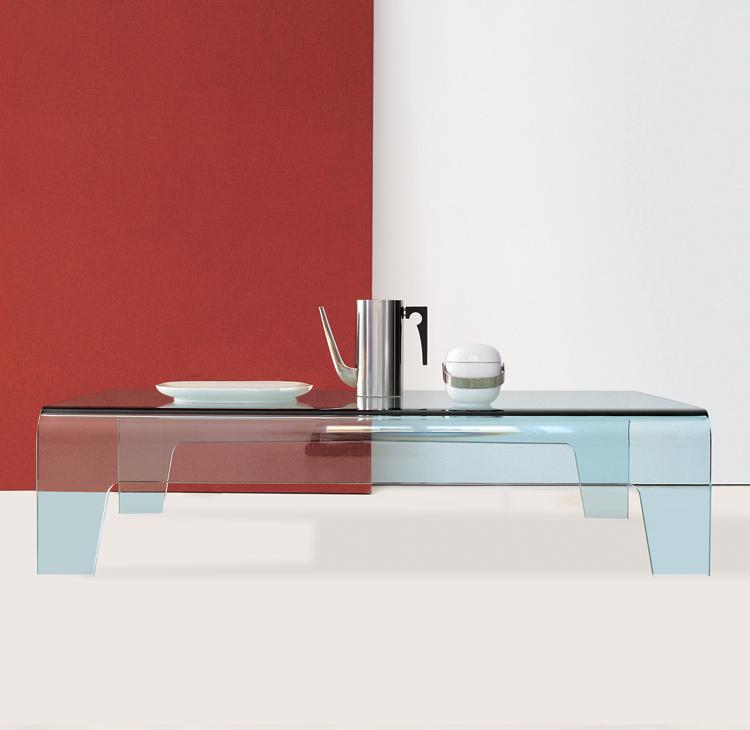 Unico Italia Modern Enigma Glass Coffee Table With Shelf: Sovet Frog Coffee Table