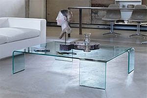 Bent Glass (Waterfall) Coffee Tables