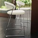 New York Leather Stool Stools by Calligaris