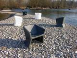 Exofa Lounge Chairs by Slide