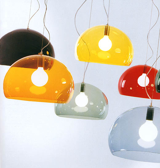 Icon lighting from Kartell, designed by Ferruccio Laviani