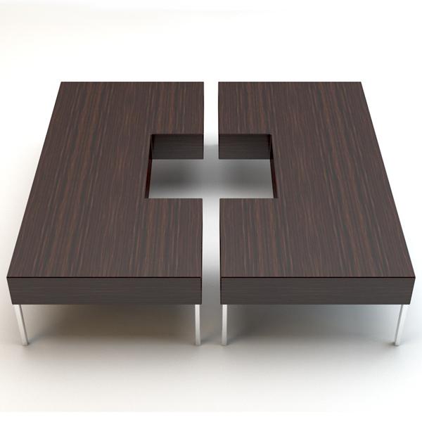Porada Puzzle Wooden Coffee Table Contemporary Living