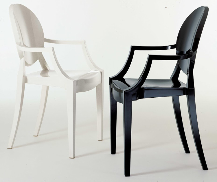 Louis Ghost chair from Kartell, designed by Philippe Starck