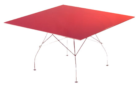 Glossy Table dining from Kartell, designed by Antonio Citterio