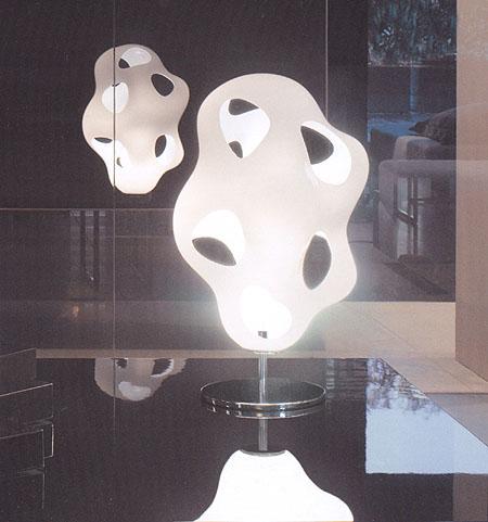 Bokka Table lighting from Kundalini, designed by Karim Rashid
