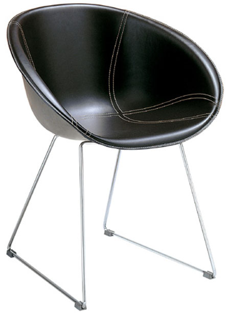 Gliss Leather chair from Pedrali, designed by Dondoli and Pocci
