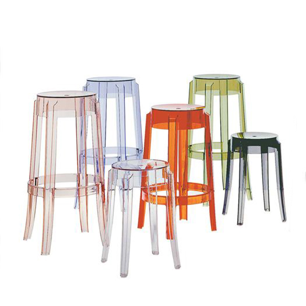 Charles Ghost stool from Kartell, designed by Philippe Starck