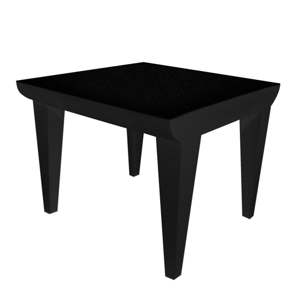 Bubble Club Side Table end from Kartell, designed by Philippe Starck
