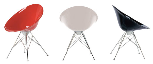 Ero |S| Fixed chair from Kartell, designed by Philippe Starck