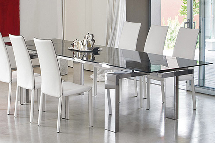 Terrific Bonaldo Tom Glass Dining Table Contemporary Dining Room Gmtry Best Dining Table And Chair Ideas Images Gmtryco