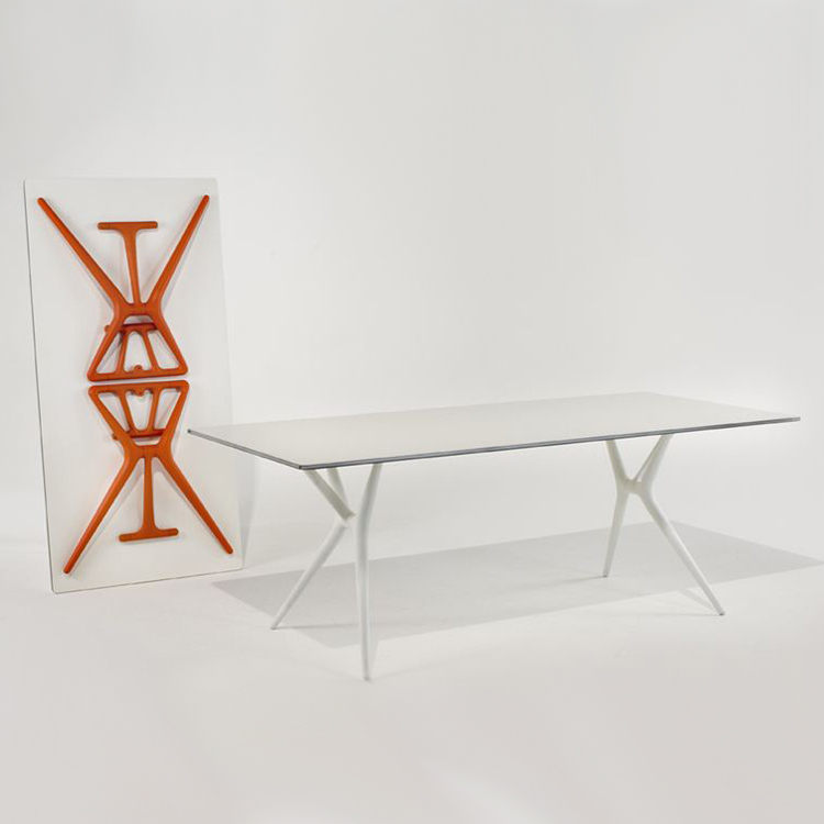 Spoon Table desk from Kartell, designed by Antonio Citterio