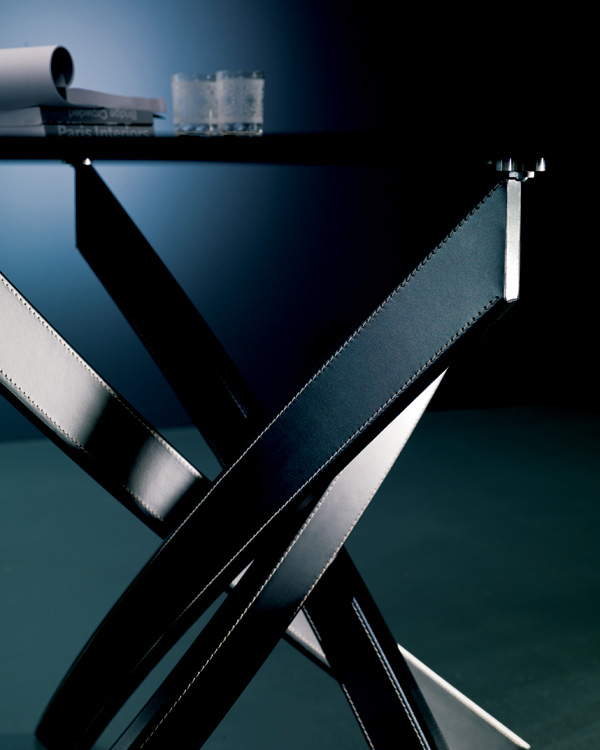Barone Elliptical, dining table from Bontempi