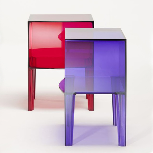 Small Ghost Buster end table from Kartell, designed by Philippe Starck