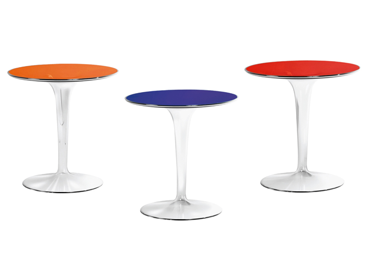 Tip Top end table from Kartell, designed by Philippe Starck
