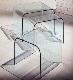 Curvo Tris End Tables by Miniforms