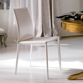 Linda Leather Dining Chair by Bontempi
