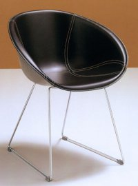 Gliss Leather Chair by Pedrali