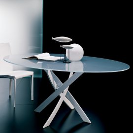 Barone Elliptical Dining Table by Bontempi