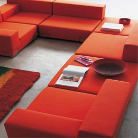 Plastics Sofa by Kartell