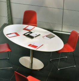 Inox Ellittico Dining Table by Pedrali