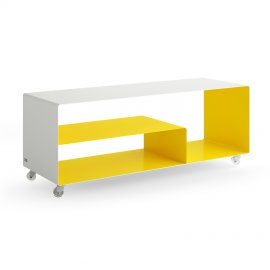 Mobile Line Sideboard with Angle Shelf Storage by Muller