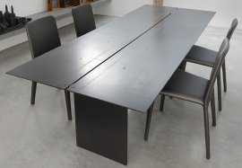 Steel Dining Table by Trabaldo