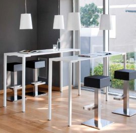 Togo 110 Bar Tables by Pedrali