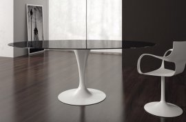 Flute Elliptical Dining Tables by Sovet