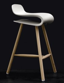 BCN Wooden Base Stool by Kristalia