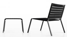 Rest Footrest Lounge Chair by Kristalia