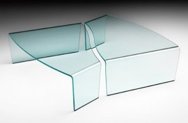 Virgola Coffee Table by Fiam