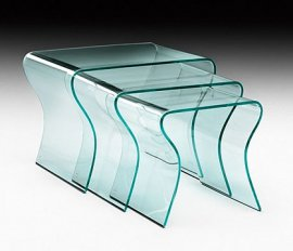 Charlotte Tris End Tables by Fiam