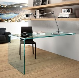 Rialto L Wall Mounted Desk by Fiam