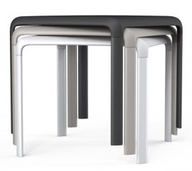 Snow 301 Dining Table by Pedrali