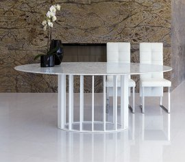 Embassy Marble Dining Table by Steelline