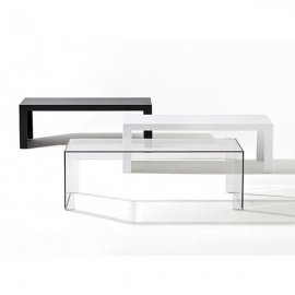 Invisible Side End Tables by Kartell