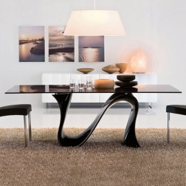 Wave 8014 Fixed Dining Table by Tonin Casa